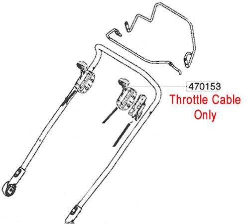 AL-KO Lawnmower Throttle Cable 470153