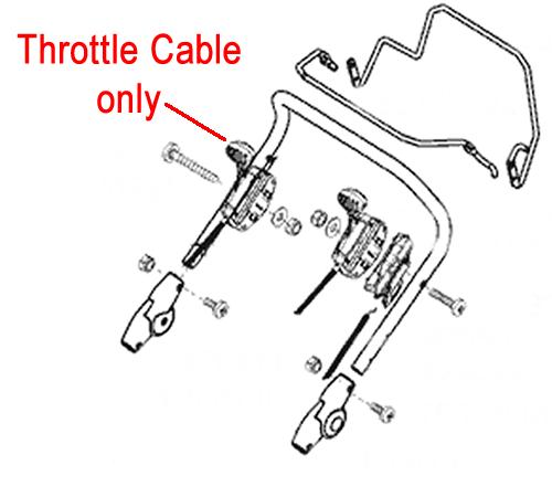 AL-KO Lawnmower Throttle Cable 470531