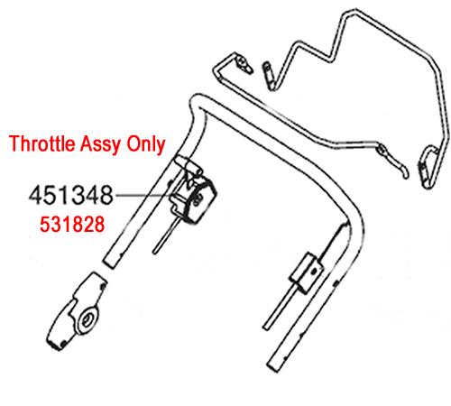 AL-KO Lawnmower Throttle Cable 531828