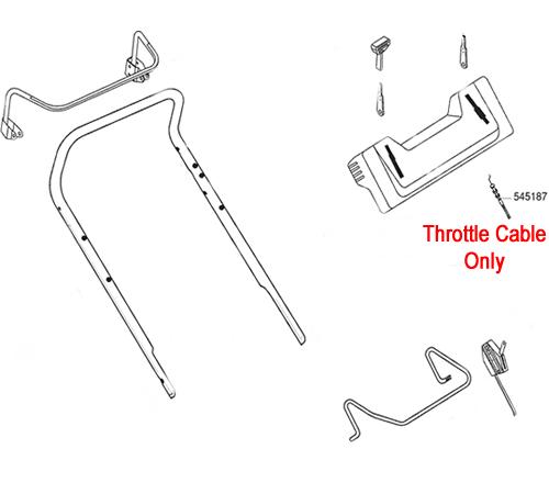AL-KO Lawnmower Throttle Cable 545187