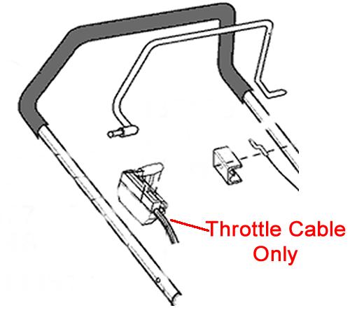 AL-KO Lawnmower Throttle Cable 549670
