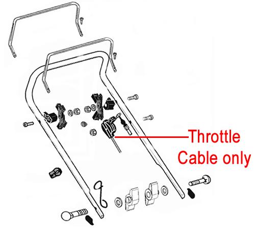 AL-KO Rear Roller Lawnmower Throttle Cable 529466