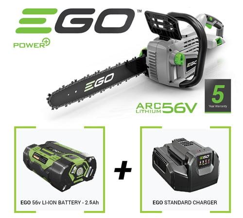 "EGO Power Plus 14"" Cordless Chain saw Bundle"