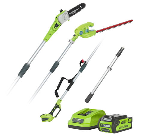 Greenworks 40V Cordless Long Reach Hedge Trimmer & Pruner (Tool only)