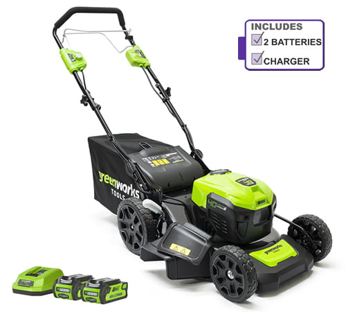 Greenworks GD40LM46SPK2X 40v Self-Propelled Cordless Mower (Batteries & Charger Included)