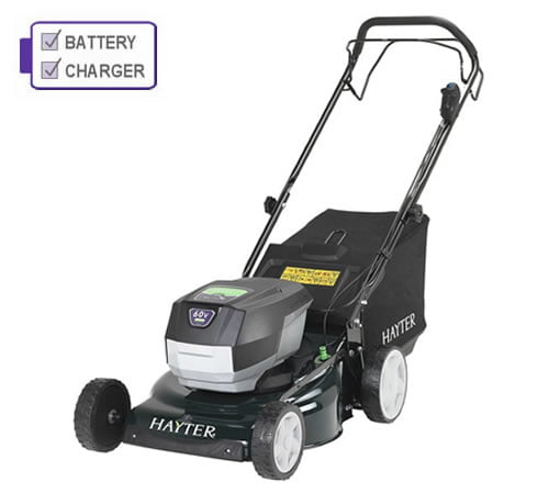 Hayter Osprey 46 60v Cordless Lawn Mower with 2.5Ah Battery and Charger