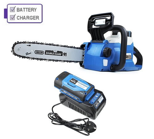 "Hyundai HYC60Li 60v Cordless 12"" Chainsaw c/w battery and charger"