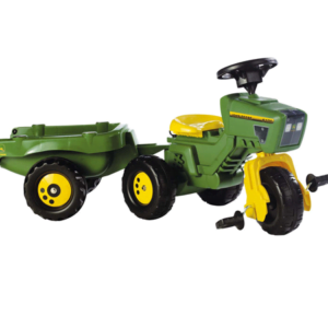 John Deere 3-wheel Pedal Tractor/Trailer
