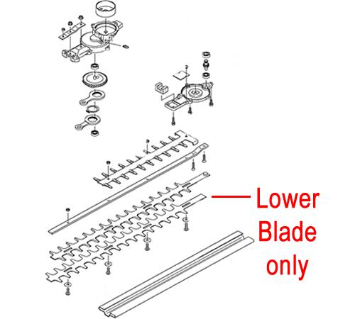 Kawasaki KHD600B Hedge trimmer Lower Blade