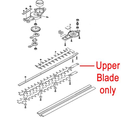 Kawasaki KHD600B Hedge trimmer Upper Blade