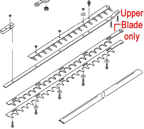 Kawasaki KHS750B Hedge trimmer Upper Blade