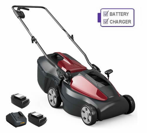 Mountfield Electress 34 Li 4 Wheel Cordless Mower with 2 x Battery and Charger
