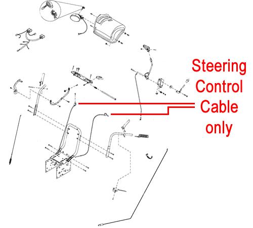 Stiga Snow Flake & Snow Power Steering Cable 1812-2538-01