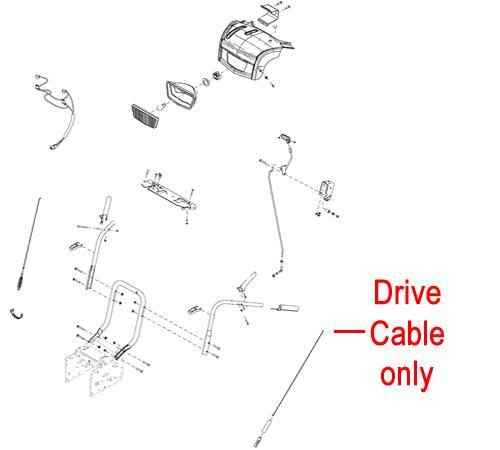 Stiga Snow Prisma & Blizzard Drive Cable 1812-2126-01