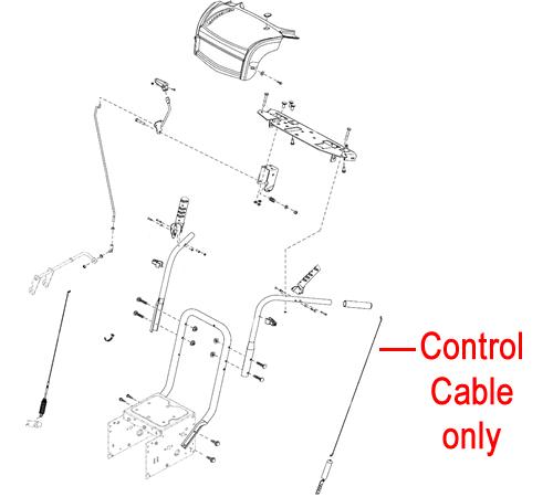 Stiga Snow Rex & Fox Control Cable 1812-2029-01