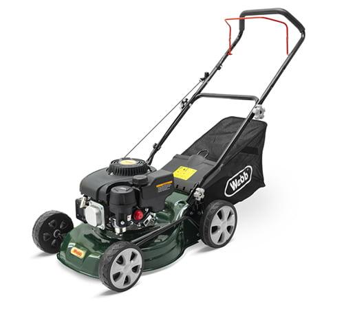 Webb R410HP Push Petrol 4 Wheel Lawn mower