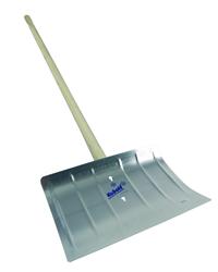 Wooden Handle 400mm Width Aluminium Snow Shovel
