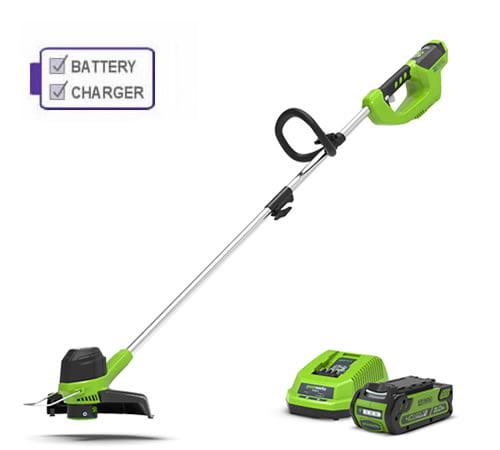 Greenworks G40LTK2 40v Cordless Line Trimmer c/w battery & charger