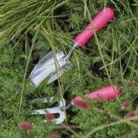 Burgon & Ball RHS Fluorescent Hand Trowel and Fork Set - Pink