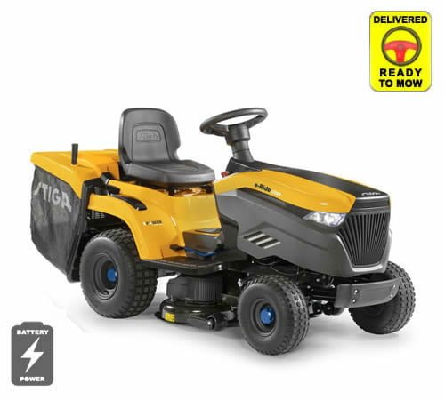 Stiga e-Ride C500 Battery Rear Collect Lawn Tractor